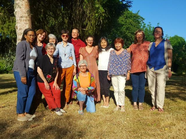 Fin du stage de yoga dans le centre de  Mahamoudra ling à Moulicent en juillet 2019